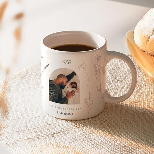 Mug Personnalisé Fête des Pères Petit herbier pour papa, 32 cl
