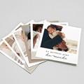 Magnet photo rétro La vie en famille beige, Lot de 12