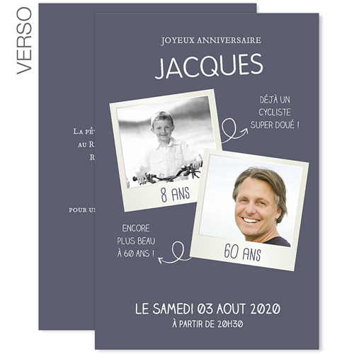 carte d invitation anniversaire 60 ans zp78 montrealeast. Black Bedroom Furniture Sets. Home Design Ideas