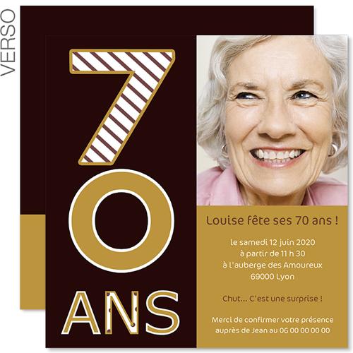 invitation 70 ans