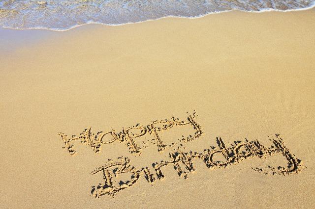 anniversaire sur la plage