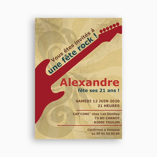 invitation-anniversaire-guitariste