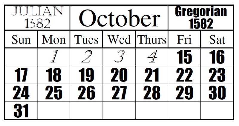 calendrier julien grégorien