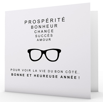 carte de voeux lunette