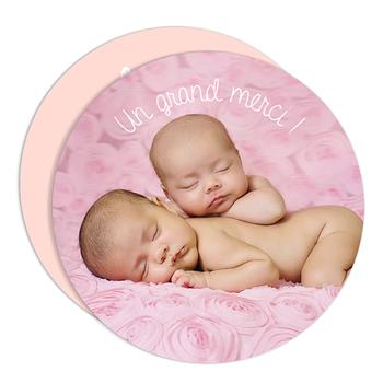 remerciement naissance jumelles