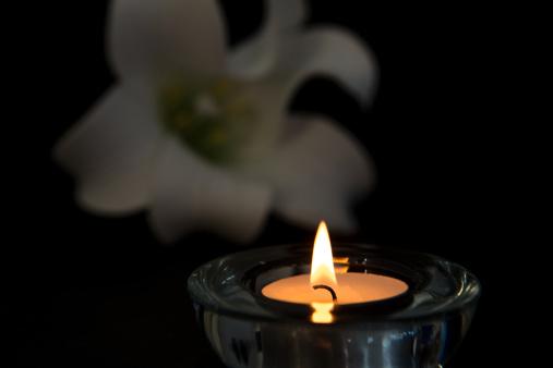 bougie fleurs décès