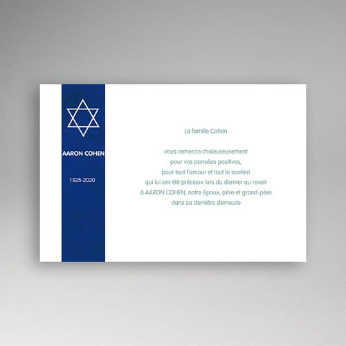 remerciement décès juif