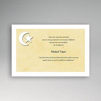 remerciements décès musulman