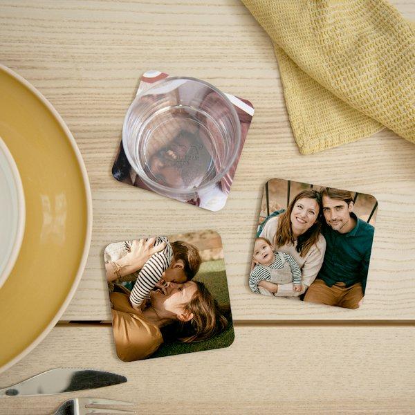 Dessous de verre avec photo