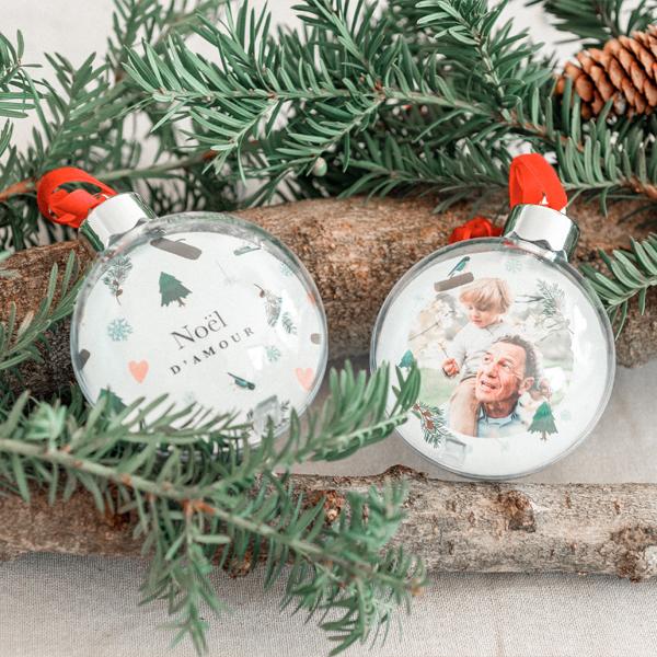 Boule Sapin Noël Personnalisée