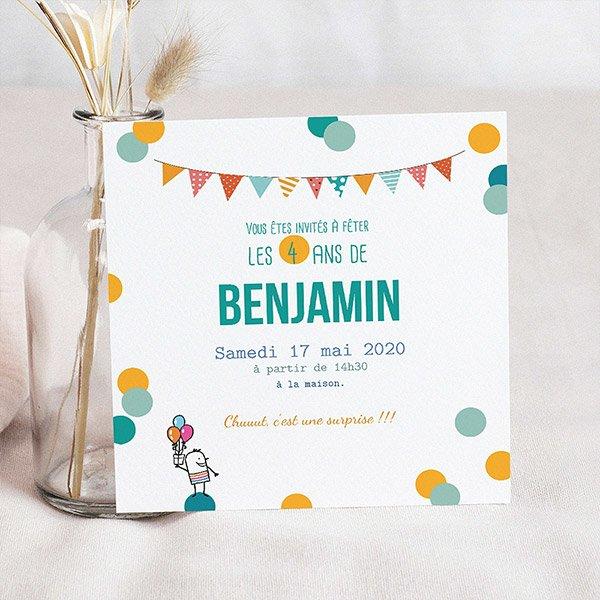 Carte Invitation Anniversaire Enfant