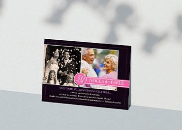 Carte invitation anniversaire mariage