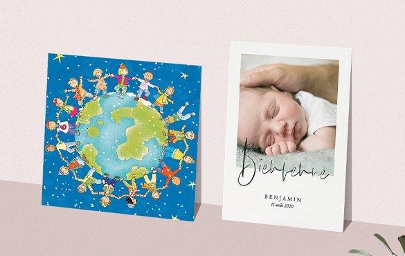 Faire-Part Naissance Garçon UNICEF