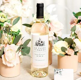 Étiquette bouteille mariage