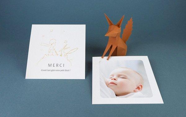 Carte Remerciement Naissance Le Petit Prince