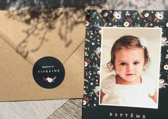 Etiquette Autocollante Baptême