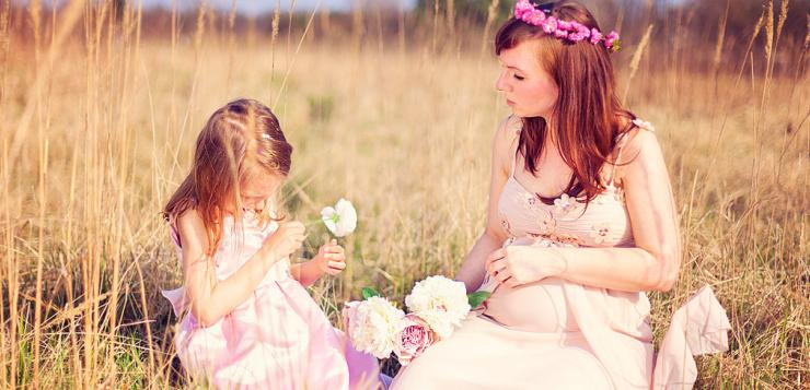 Photos champêtre d'une mère et sa fille