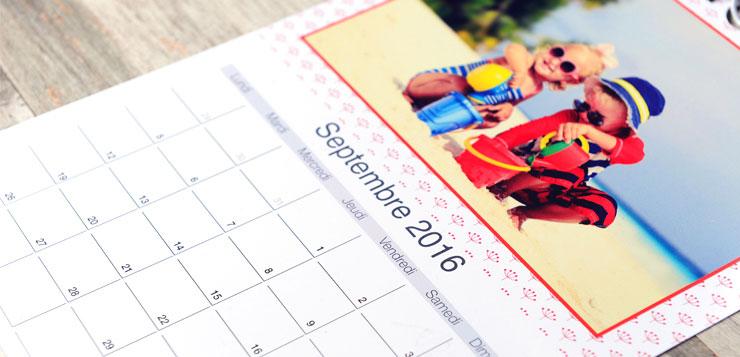 Calendrier pour organiser 2016