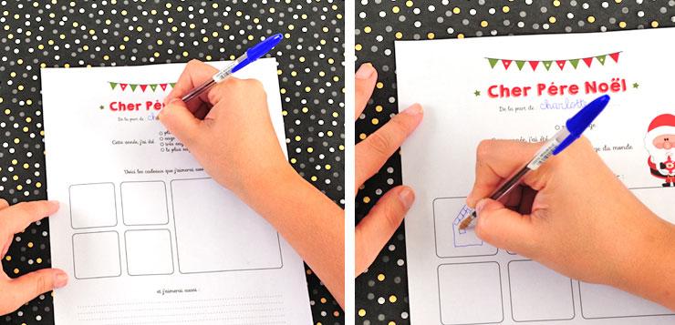 Etape 2 remplir votre lettre