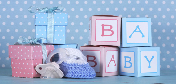 Gender reveal party cadeaux