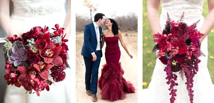 Mariage marsala le bouquet
