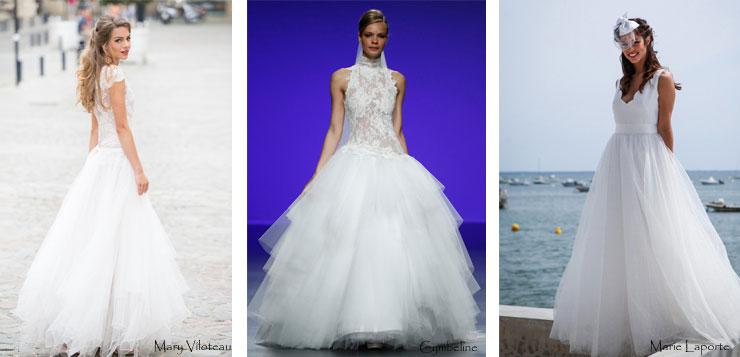 Robes de mariée gauffrée