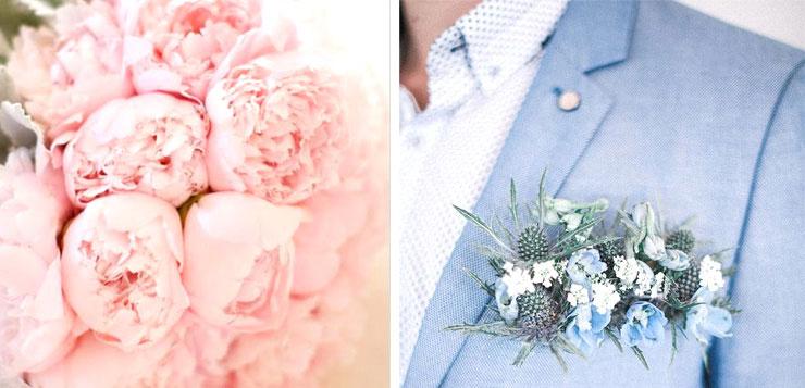 bouquet de fleurs pantone