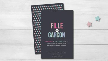 Gender reveal party invitation