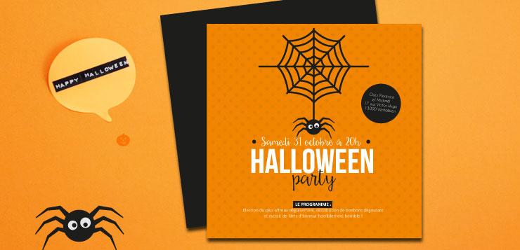 invitation soirée halloween