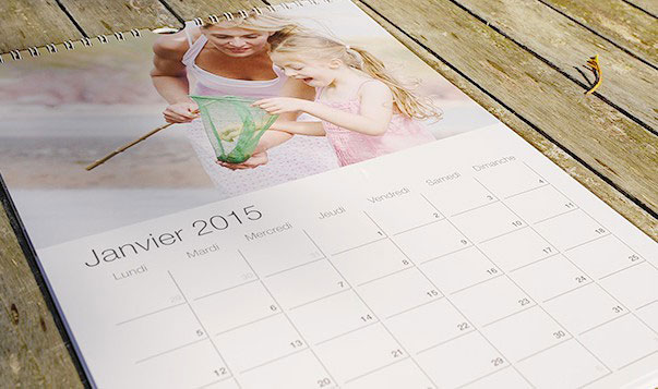 formats calendriers