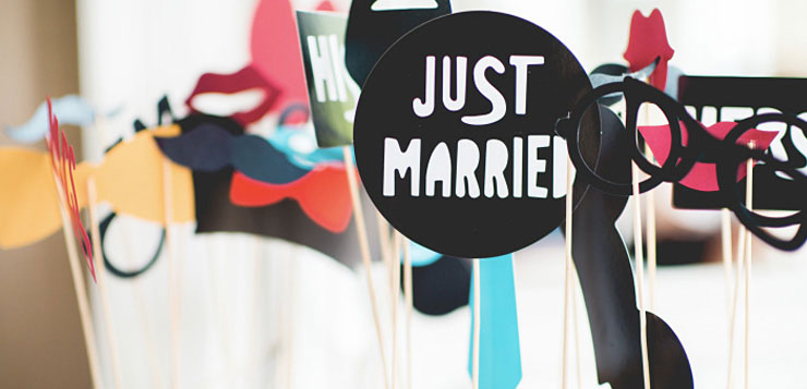 Just married photobooth