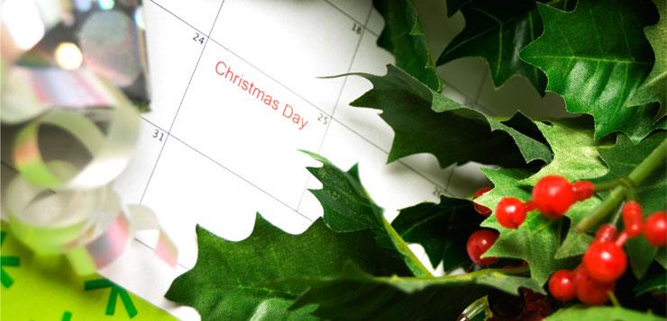 offrir un calendrier pour Noel