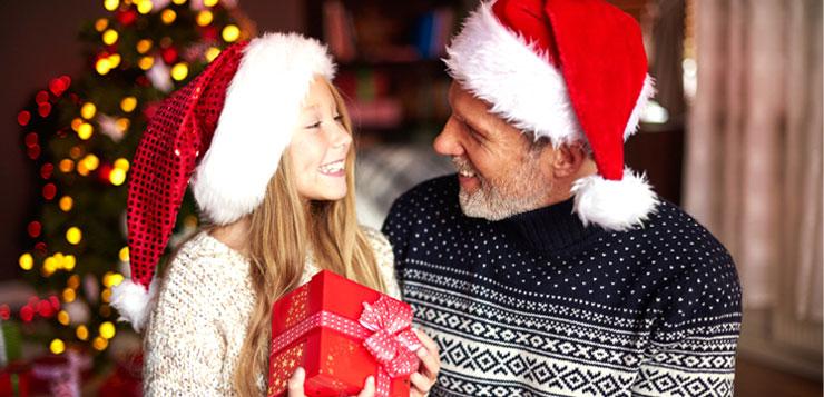 on donne les cadeaux de noel