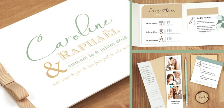 Cartes mariage papeterie