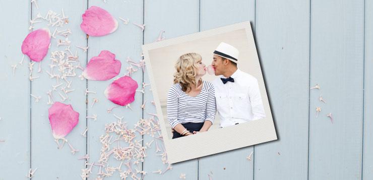 magnet photo remerciement de mariage