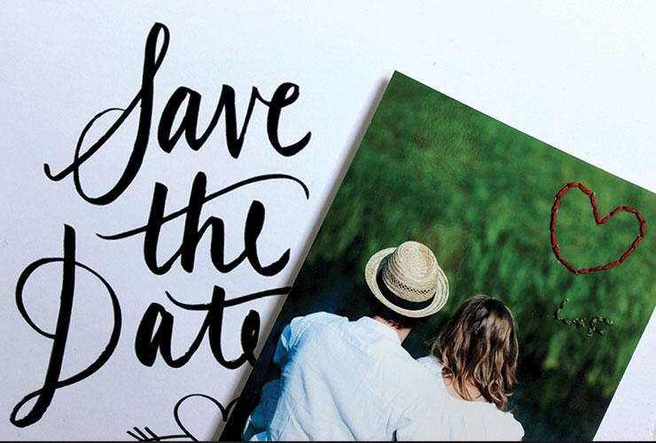 save the date terminé et brodé