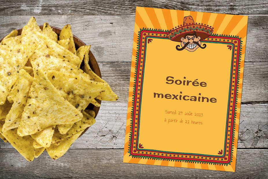 invitation soirée mexicaine