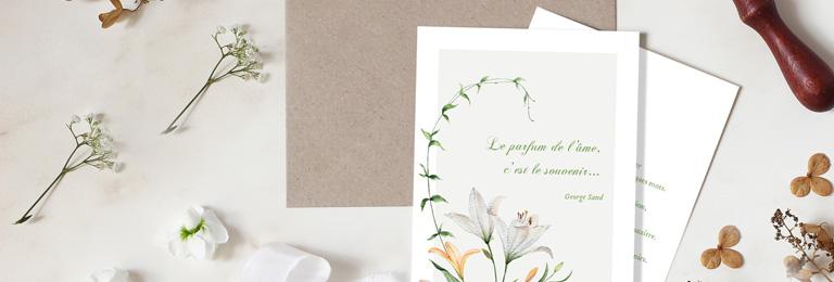 Bannière carte condoléances