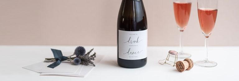 banniere etiquette champagne mariage