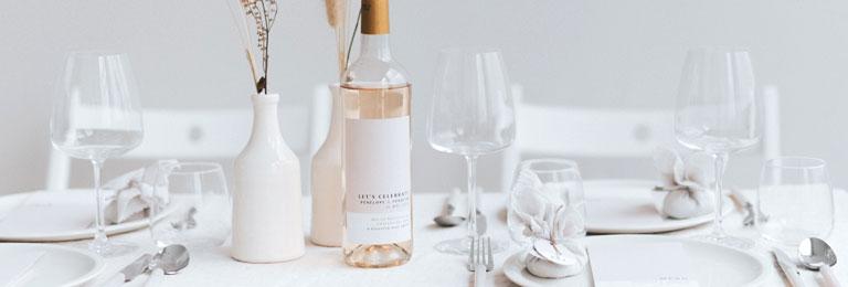 banniere etiquette vin mariage