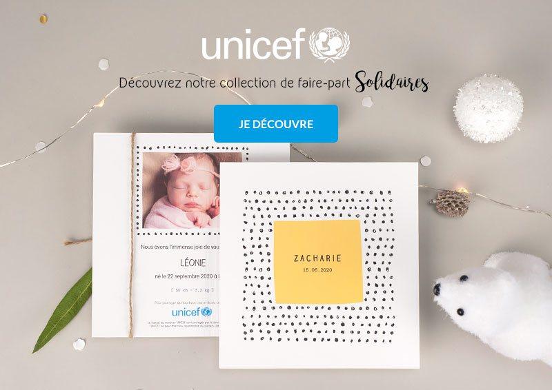 Faire-part de Naissance UNICEF