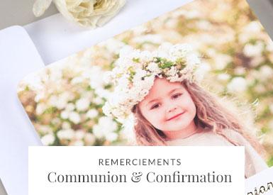 Remerciements Communion et Confirmation