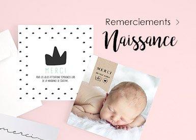 Cartes de remerciements naissance