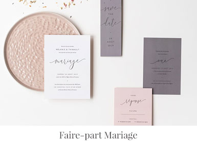 Faire-part-mariage personnalisé