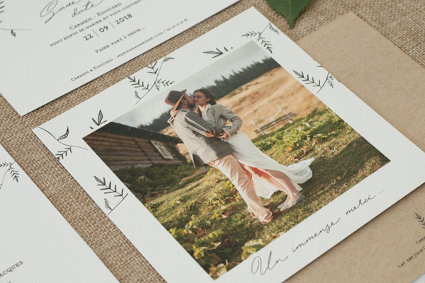 Cartes de Remerciements Mariage