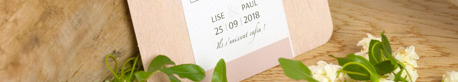 Nouvelle collection faire part mariage
