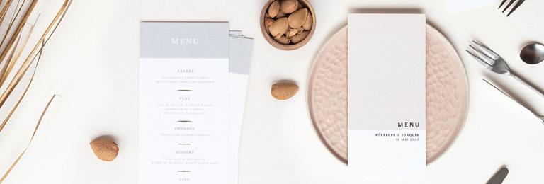 banniere menu mariage