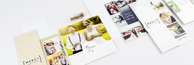 remerciement mariage creatif