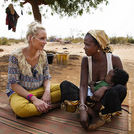 Elodie Gossuin faire part UNICEF
