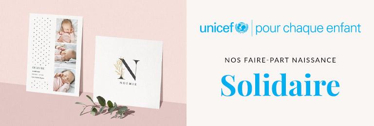 Faire part naissance fille Unicef